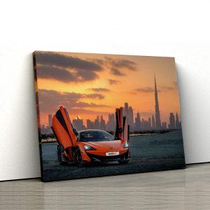 1 tablou canvas Orange McLaren 570S in dubai