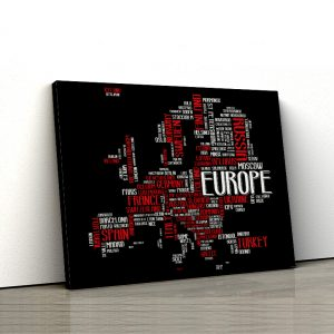 1 tablou canvas Orase din Eupoa wordcloud