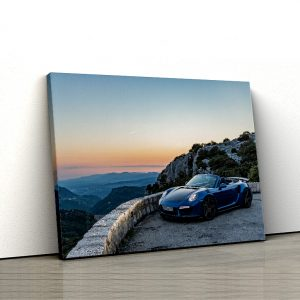 1 tablou canvas Porsche 911 Turbo S Cabriolet blue