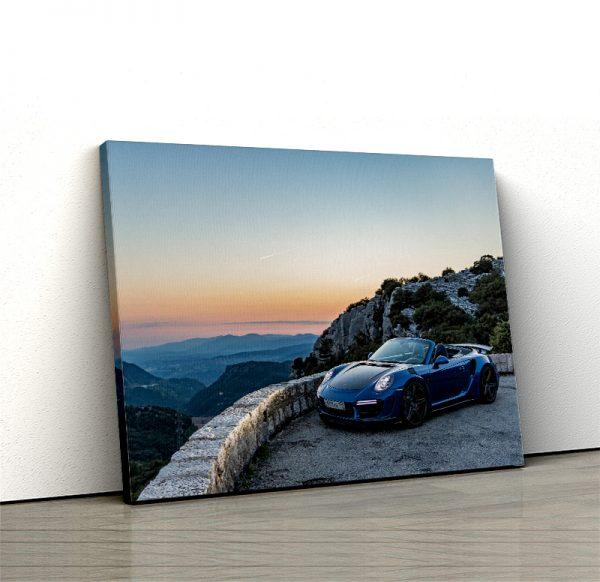 1 tablou canvas Porsche 911 Turbo S Cabriolet blue