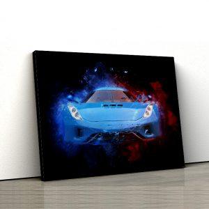 1 tablou canvas Royal blue supercar