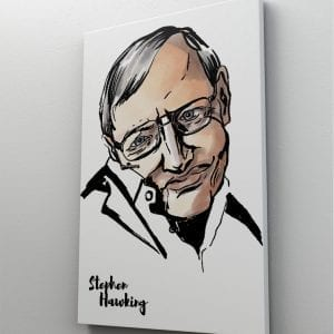 1 tablou canvas Stephen Hawking