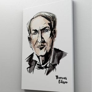 1 tablou canvas Thomas Edison