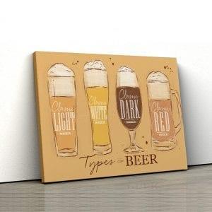 1 tablou canvas Tipuri de bere