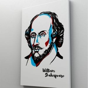 1 tablou canvas Whilliam Shakespear