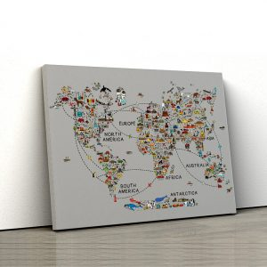 1 tablou canvas World travel map