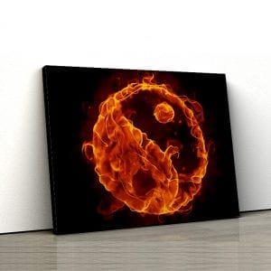 1 tablou canvas Ying Yang de foc