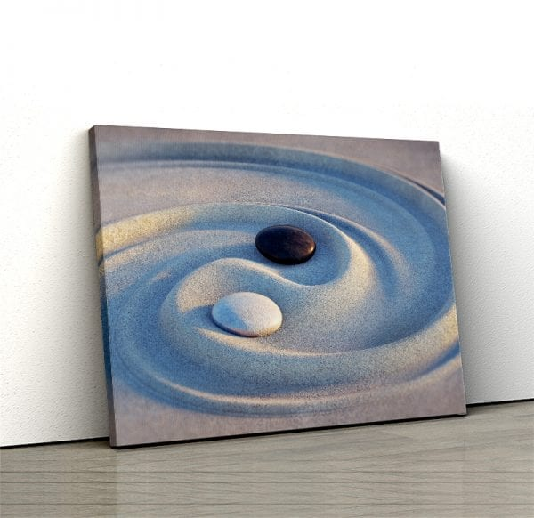 1 tablou canvas Ying Yang in nisip