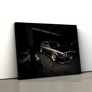 1 tablou canvas bmw e30 negru