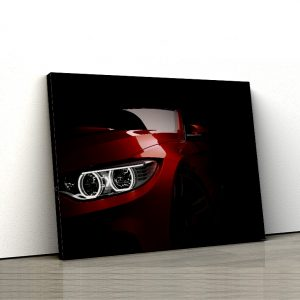 1 tablou canvas far bmw rosu 1