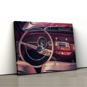 1 tablou canvas interior de masina clasica