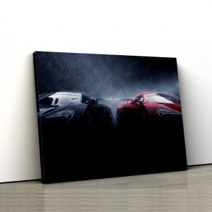 1 tablou canvas super masini in ploaie