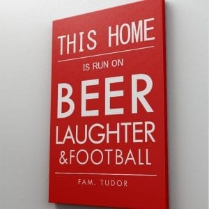 1 tablou canvas this home BEER
