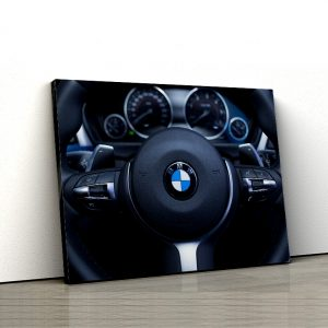 1 tablou canvas volan BMW