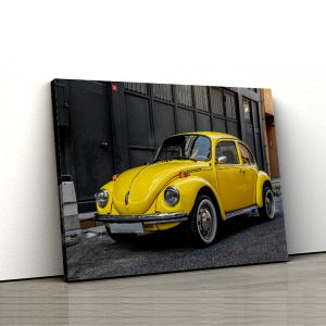 1 tablou canvas yellow volkswagen beetle