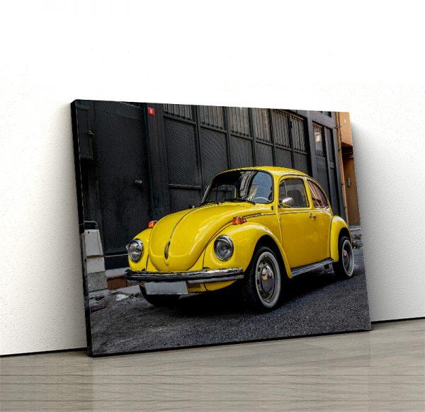 1 tablou canvas yellow volkswagen beetle
