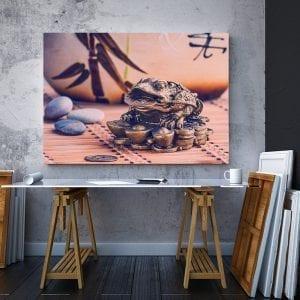 2 tablou canvas Broasca ce aduce noroc