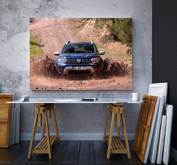 2 tablou canvas Dacia Duster in noroi