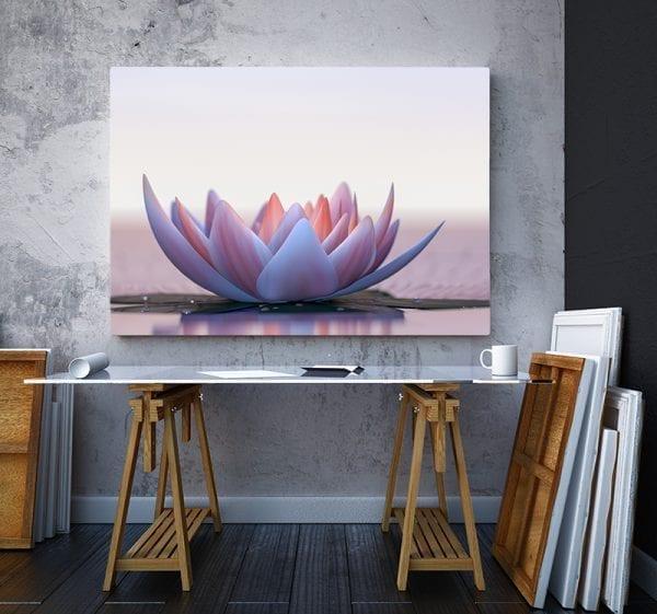2 tablou canvas Floare de Lotus