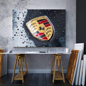 2 tablou canvas Porsche Logo