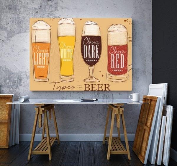 2 tablou canvas Tipuri de bere