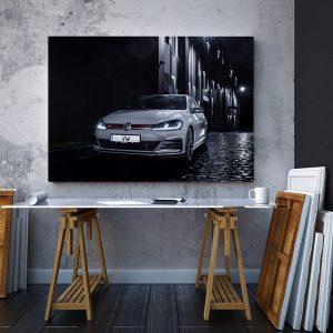 2 tablou canvas VW Mk7 Golf GTI TCR