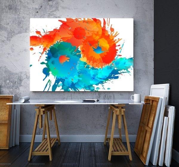 2 tablou canvas Ying Yang Apa si Foc