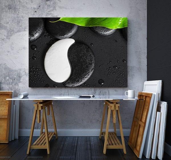 2 tablou canvas Ying Yang de piatra