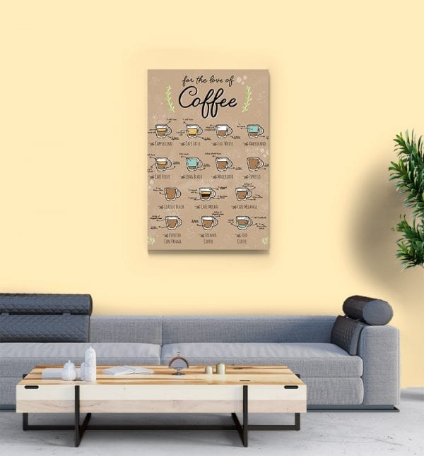 2 tablou canvas for the love of coffee 1