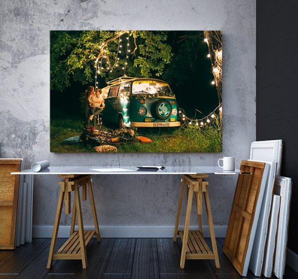 2 tablou canvas vw t1 lumini