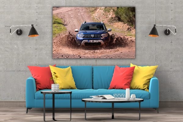3 tablou canvas Dacia Duster in noroi