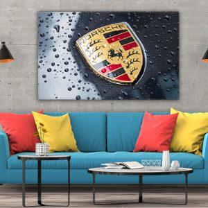 3 tablou canvas Porsche Logo