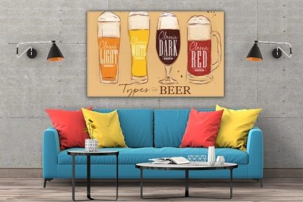 3 tablou canvas Tipuri de bere