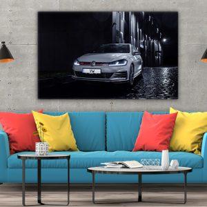3 tablou canvas VW Mk7 Golf GTI TCR