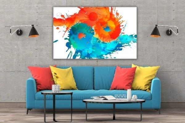 3 tablou canvas Ying Yang Apa si Foc