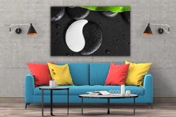 3 tablou canvas Ying Yang de piatra