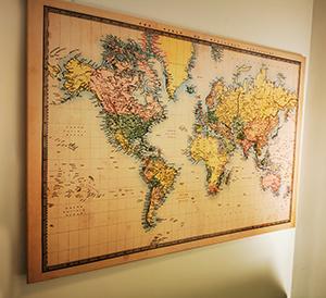 tablou canvas harta lumii vintage