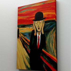 Tablou Canvas Reinterpretarare Strigatul de Munch 1 tablou canvas