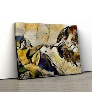 Tablou Canvas Reinterpretare Creatia de Michelangelo 1 tablou canvas