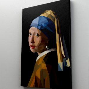 Tablou Canvas Reinterpretare Fata cu cercel din perle de Johannes Vermeer 1 tablou canvas