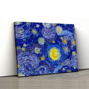 Tablou Canvas Reinterpretare cer instelat de Van Gogh 1 tablou canvas