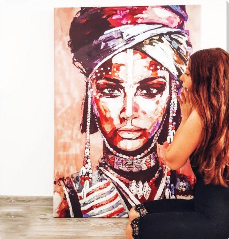 tablou african woman