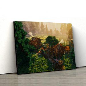1 tablou canvas Minecraft Landscape