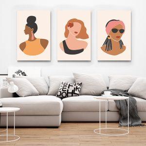 1 Multicanvas Portrete Femei