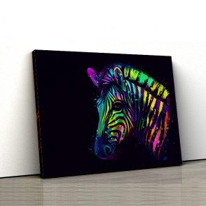 Tablou canvas Animale - Rainbow Zebra