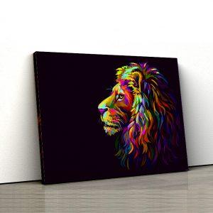 Tablou canvas Animale - Rainbow Lion