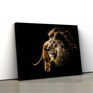 tablou canvas Animale - The king of the jungle