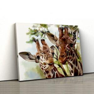 1 tablou canvas girafa cu puiul ei