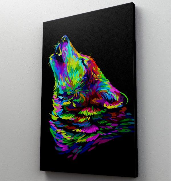 Tablou canvas Animale - Rainbow Wolf