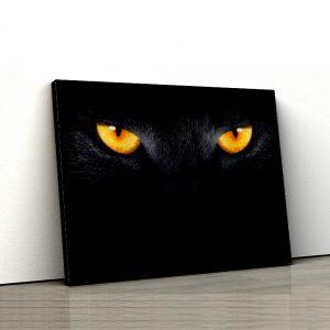 1 tablou canvas Black cat eyes